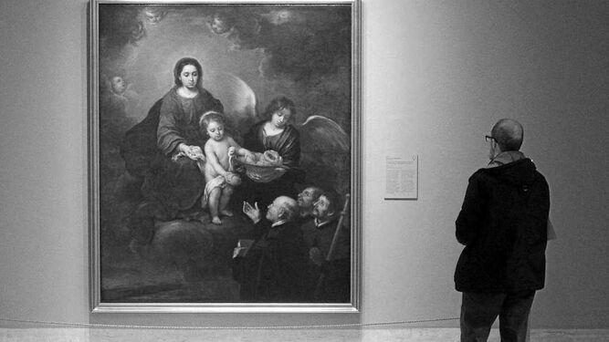'La Virgen con el niño repartiendo pan a los sacerdotes', de Bartolomé Esteban Murillo, de Budapest a Madrid.