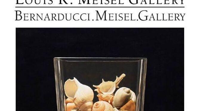 Las obras de Cazorla en la exposición de Palm Desert:       Equilibrium (óleo sobre lienzo, 89x89 cm) y Sea Treasures,        (óleo sobre lienzo, 73x73 cm), que ilustra el cartel.