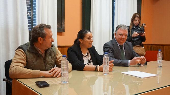 Ángel Díaz, Rocío Espinosa y Francisco José Romero, ayer.