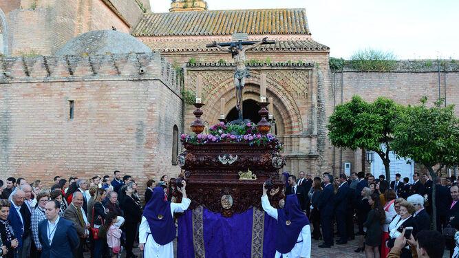 El Cristo Yacente de Aroche en el Viernes Santo.