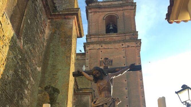 El venerado Cristo de la Vera Cruz de Cortegana.