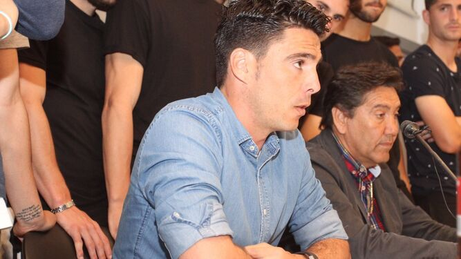 Zamora, durante la rueda de prensa.