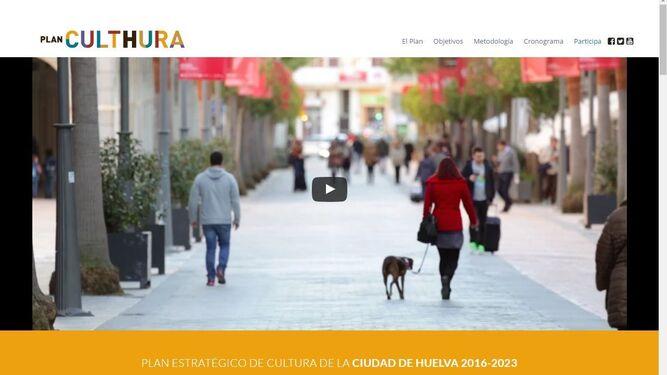 Página de inicio de la nueva web del Plan Culthura (culthura.es).