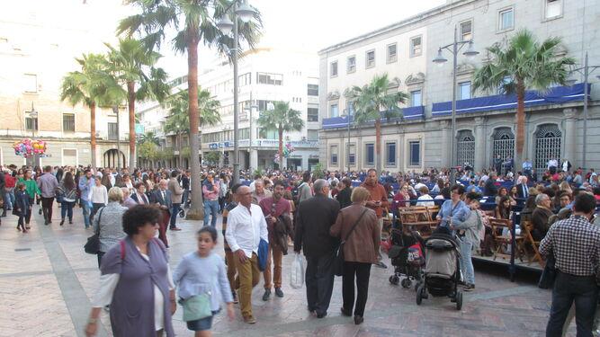 Zona de la Plaza de la Constitución donde se ampliarán hasta dos filas más el sector de palcos.
