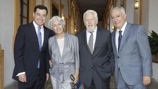 Juan Manuel Moreno Bonilla, Lola Palma, el abogado Francisco Ballester y Javier Arenas.