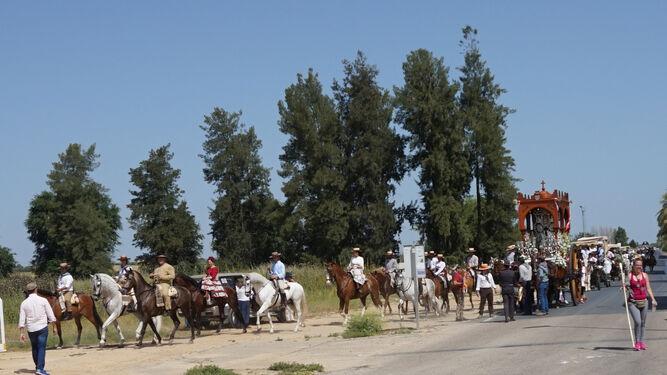 Comitiva de la Hermandad del Rocío de Bollullos Par del Condado.