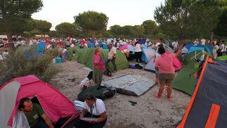 Llegada de la Hdad de Huelva a La Matilla.