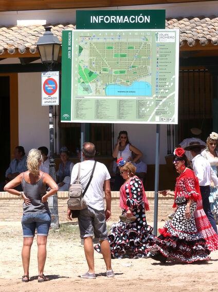 Ambiente en la aldea Rociera