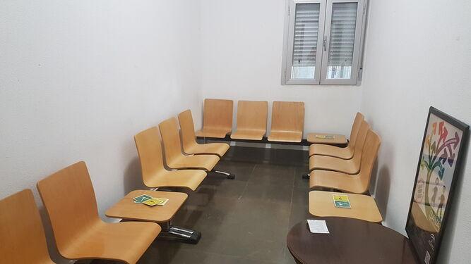 Sala de espera para las víctimas de malos tratos, en el Palacio de Justicia.