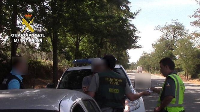 El individuo fue arrestado cerca de Aracena.