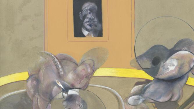 Detalle de 'Tres figuras y un retrato', una de las pinturas de Francis Bacon.