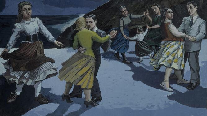 'El baile' de la enigmática Paula Rego, una de las artistas presentes en la muestra.