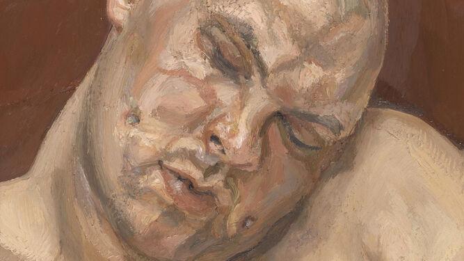Detalle 'Leigh Bowery', de Lucien Freud.