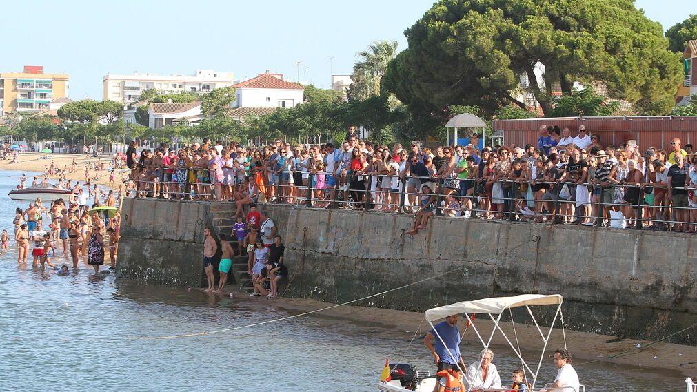 Imágenes de la procesión de la Virgen del Carmen en Punta Umbría.
