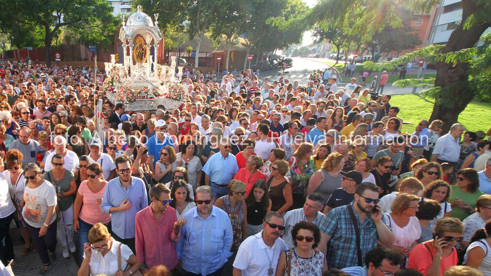 Imágenes de la procesión de la Virgen de La Cinta.