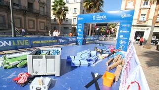 Imágenes de los preparativos para el mundial de Triathlón.