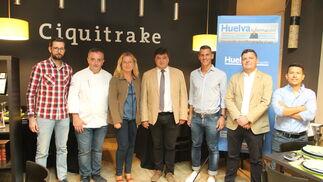 Imágenes de la Tertulia Deportiva de Huelva Información con Gabriel Cruz y Javier Casquero.