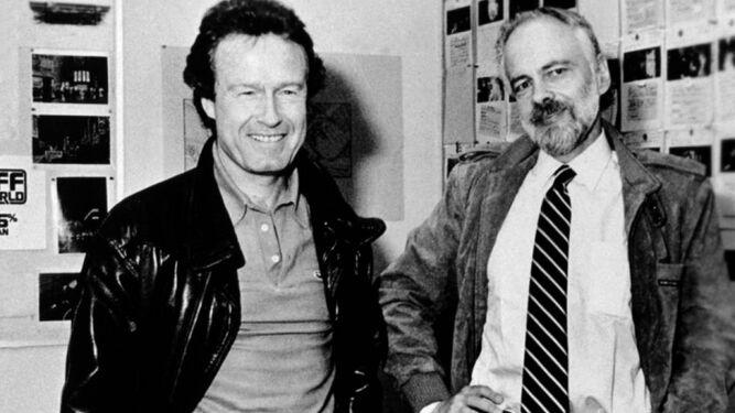 Ridley Scott y Philip K. Dick, en una imagen de 1982.