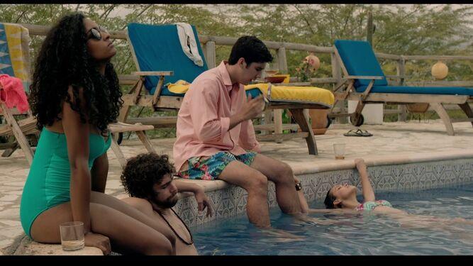 Imagen de una de las escenas del filme dominicano El hombre que cuida, dirigido por Alejandro Andújar.