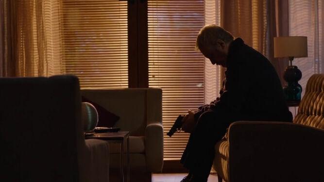 El actor protagonista de la película argentina Maracaibo, Jorge Marrale, en un fotograma.
