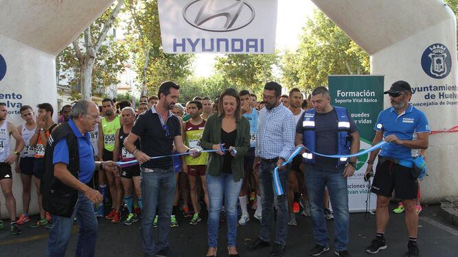 La Vuelta a Huelva volvió a ser un éxito, con una masiva participación y Adrián Andivia y Lidia Rodríguez como ganadores absolutos.
