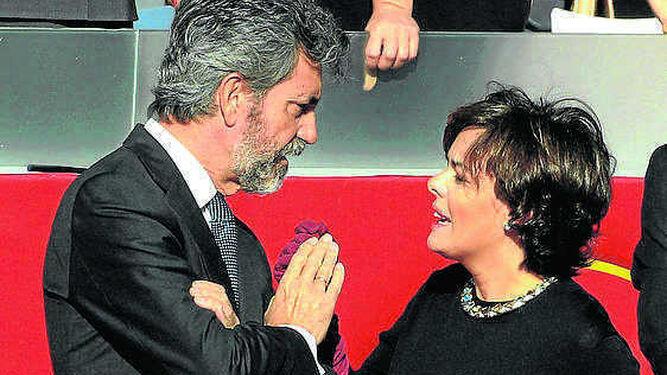 Carlos Lesmes y Soraya Sáenz de Santamaría.