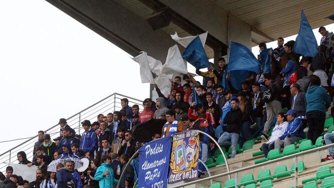 Aficionados del Decano en el Córdoba B-Recreativo del pasado ejercicio.