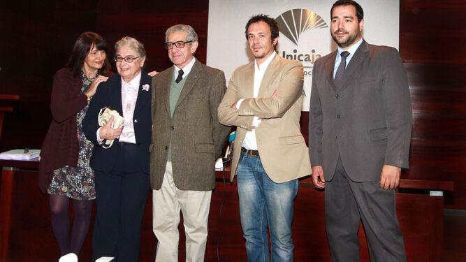 Valeria Ciompi, Nadia Consolani, Braulio Medel, José María González y Salvador Puerto en el Centro Unicaja de Cultura.