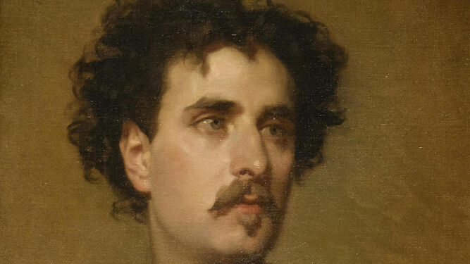 'El pintor Mariano Fortuny' retratado por Federico de Madrazo.