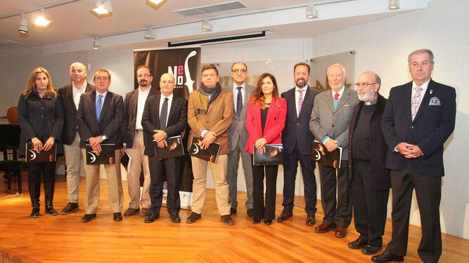 Los participantes en el acto, como representantes de las entidades que se han incorporado al proyecto.