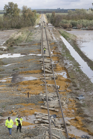 Las imágenes del descarrilamiento del tren en Arahal