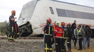 Los bomberos y servicios de emergencias ante el tren