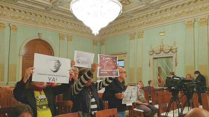 Varios asistentes al Pleno piden que la Isla Saltés sea declarada Conjunto Arqueológico.