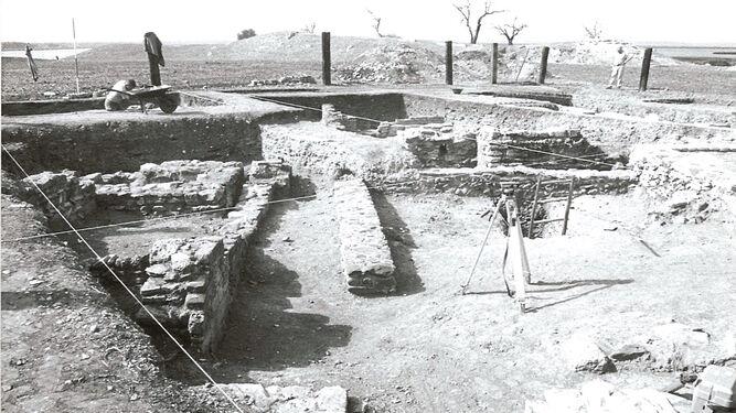 Aspecto de los trabajos de excavación realizados en los años noventa.