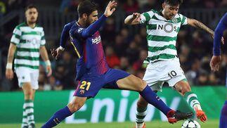 El Barcelona-Sporting de Portugal, en imágenes