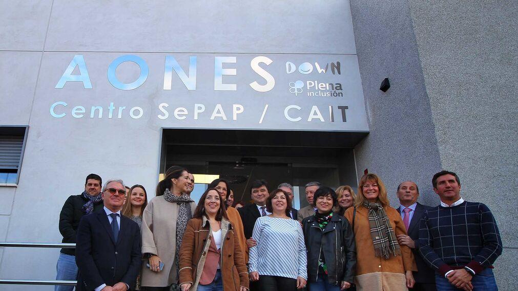 Imágenes de la inauguración de Aones (Asociación Onubense para la Normalización Educativa, Social y Laboral, Aones Down.)