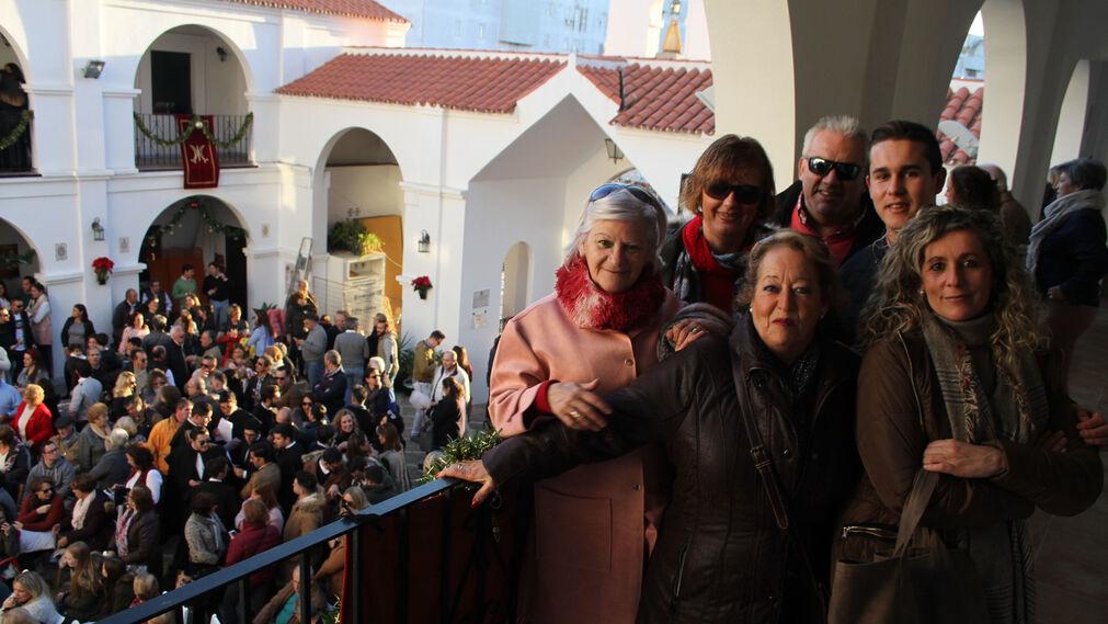 Zambomba navideña en la Hermandad del Rocío de Huelva