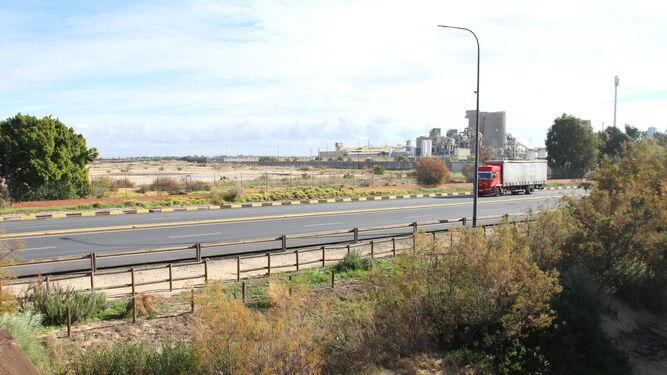 Imagen de la autovía desde la que se accederá a la ZAL.