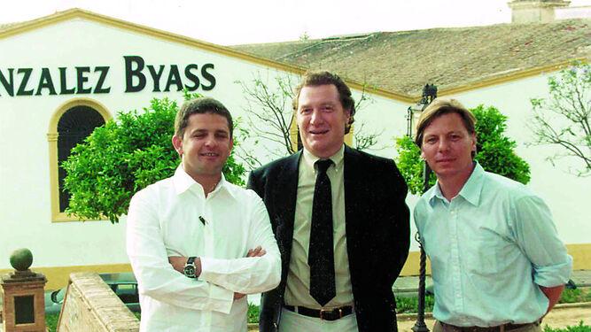 Sisseck y Del Río en Jerez con el enólogo Álvaro Palacios.
