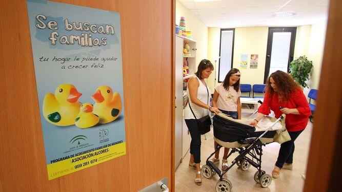 Sede de la asociación Alcores, desde donde se gestiona el programa de acogimiento familiar.