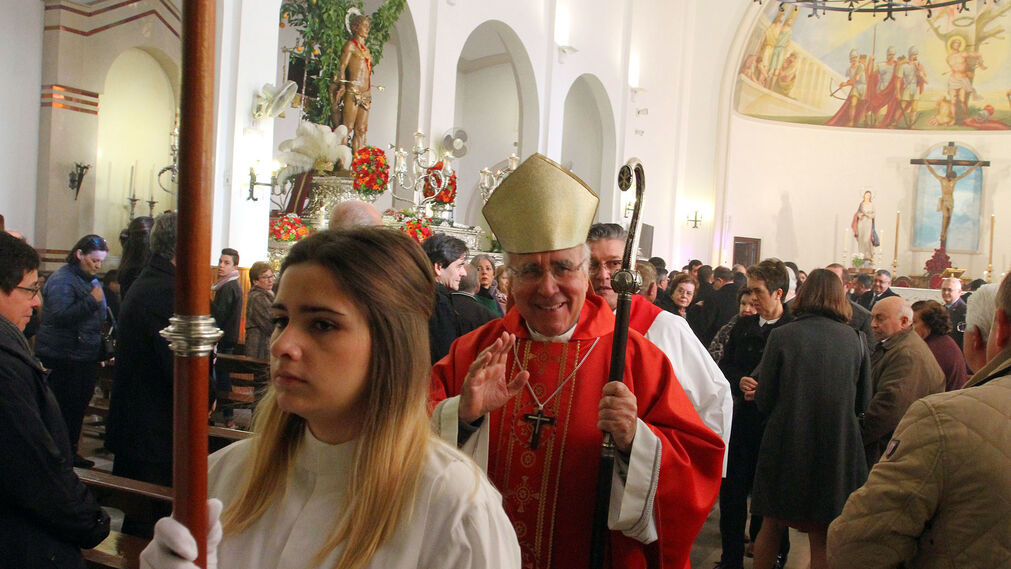 Imágenes de la procesión de San Sebastián, Patrón de Huelva.