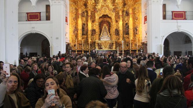 El Rocío se llena de peregrinos en  las jornadas previas a la Candelaria