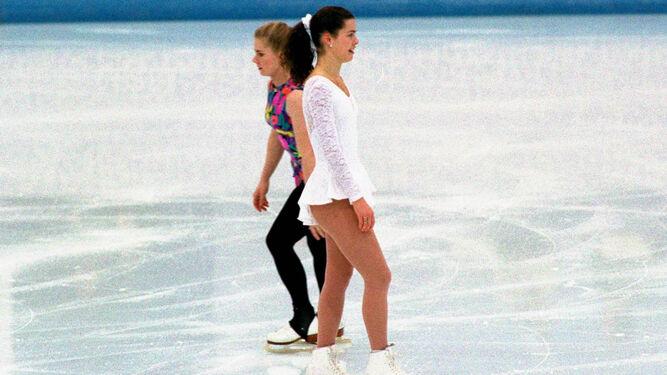 Tonya y Nancy en Lillehammer.