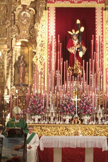 Misa Quinario de la Hermandad de Pasión en San Pedro.