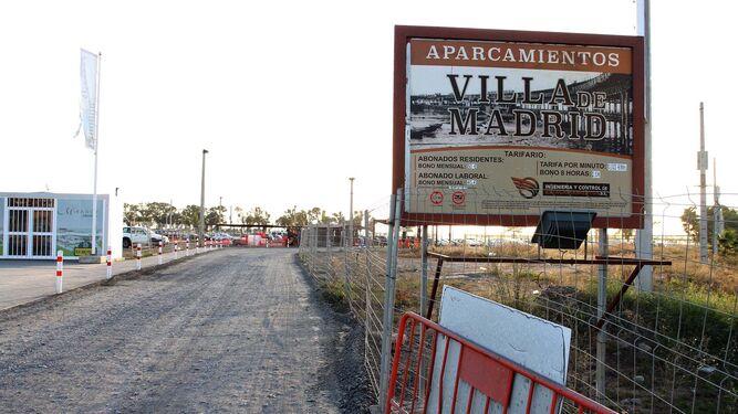 Entrada a los aparcamientos Villa de Madrid.