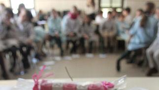 Imágenes del taller de elaboración de jabones en el colegio Santa Teresa de Jesus