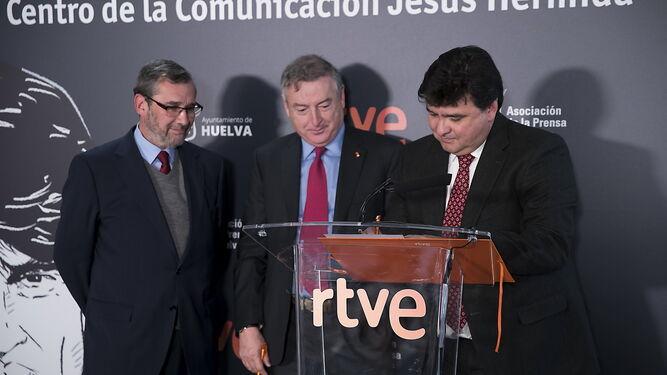 Cruz pronuncia unas palabras en el acto que se celebró en Madrid.