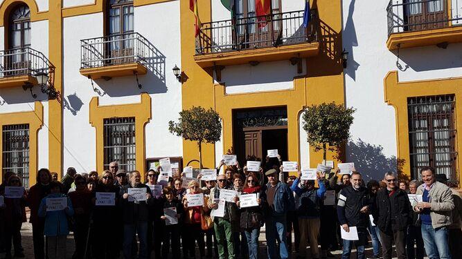 Cientos de pensionistas muestran en Huelva su rechazo al 0,25%