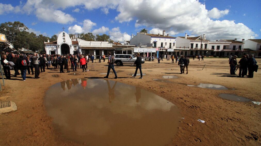 Imágenes de la peregrinación de la Hdad del Rocío de Huelva