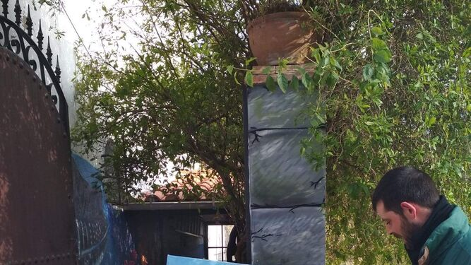 Contenedores con arte en Santa Ana